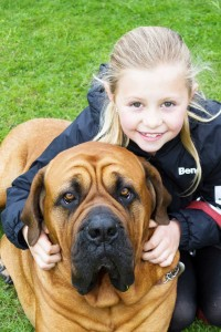 MY MY MY DELILAH  nine-year-old Lauren Holder, from Bisley, with her loveable hound