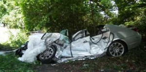 MANGLED - the remains of the BMW