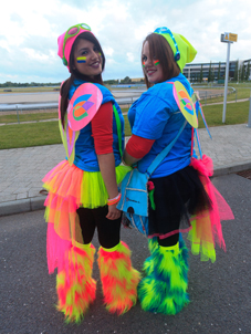 GLOW IN THE DARK – Nicole Sharp, 16, from Knaphill, and her mum Kalie raised £320 for the hospice appeal