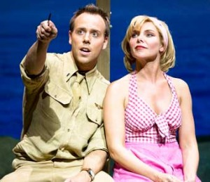 TERRIFIC PACIFIC – actor Daniel Koak with Samantha Womack as Nellie