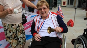 CHEER - Paralympian gold medallist Helen Hilderley celebrates London 2012