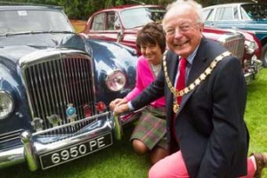 ROARING RETURN – mayor Michael Smith and mayoress Anne Murray helped welcome back the festival