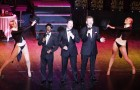 THREE OF A KIND – James Jnr, Roman Marek and Wayne Kennedy in action for Rat Pack Spectacular