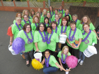 BEST FOOT FORWARD – walkers will be showing their support on Friday, June 20