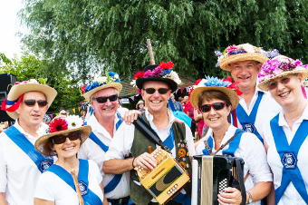 'HATS' THE WAY TO DO IT – and Chobham's Morris Dancers have flower power in abundance