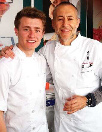 COOKING UP A STORM – Woking's Joe Lovell with esteemed TV chef Michele Roux