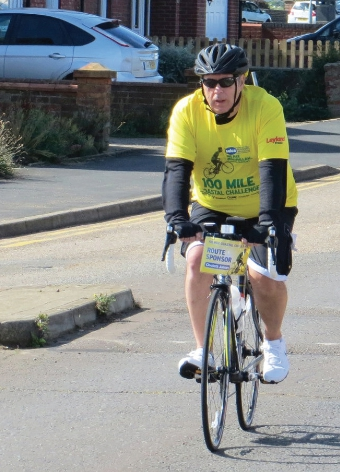 PEDAL OF HONOUR – Tony Slawny played his part to raise the cash