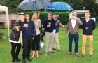 WEATHER HIT FOR SIX – Chobham revellers were out making the very best of the Bank Holiday weekend