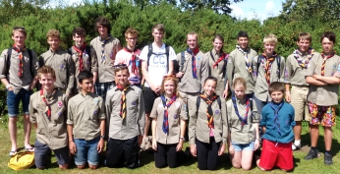 SCOUTS' HONOUR – Explorer Scouts from the five Woking units were out in force to make the most of the summer and its sunshine