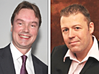 HAPPY COALITION – Tory MP Jonathan Lord (left) and Chris Took, spokesman for the Lib Dems, say Coalition recovery plan is working
