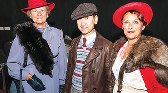EXTRA SPECIAL GUESTS – Helen Salisbury, Trevor Marchant and Rebecca Wire who were 'Experience' fi lm extras attended while dressed in all their best and brightest Thirties' finery