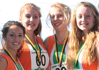 DREAM TEAM – the triumphant relay girls (Picture by: Sharon Francis)