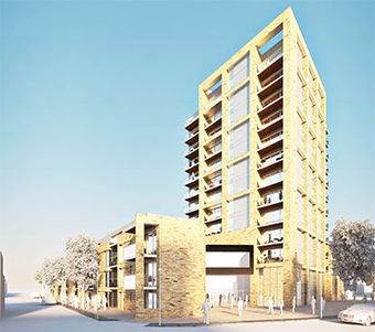 HIGH AND MIGHTY – artist's impression of how the new development might look