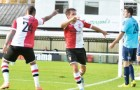 ALL SQUARE – Cards' John Goddard levels things up but lacklustre Woking still went down to the division's whipping boys over the weekend