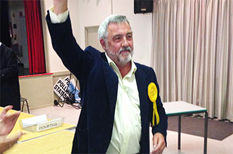 COUNCILLOR CROSS - the first non-Tory in 40 years to take the Lovelace seat