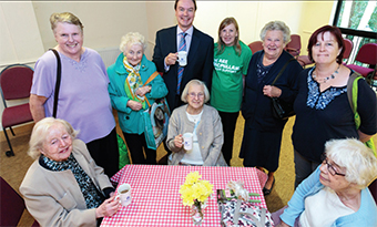 LOVE A CUPPA – visitors support Coffee Morning with Jonathan Lord MP