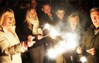 A SPARKLING OCCASION – every generation enjoyed the Ripley torchlit procession, bonfire and fab fireworks on Saturday night