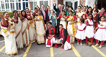 PEAK PERFORMANCES – Malayalee Association members with MP Jonathan Lord, and Mayor and Mayoress Tony and Mary Branagan