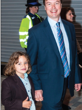 ENLIGHTENED – Woking MP Jonathan Lord and daughter Katie join in with the festival