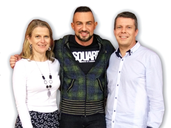 STRICTLY ROBIN - Windsor (centre) came to give three masterclasses at Woking's AnD Dance