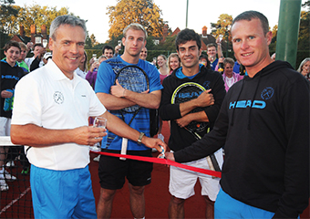 GRAND OPENING – WLTCC Tennis Chairman Andrew Kirby and Head Coach Matt Travail