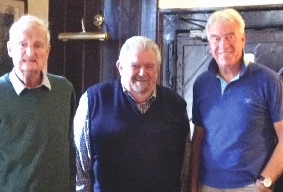 THEN AND NOW – Dick Lees, Malcolm Head and Mike Edwards celebrating in 1989