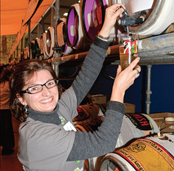 DRINK UP – Luciana Esteves pours another pint