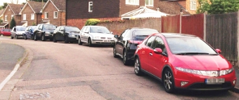 NO ROOM, BY THE WAY – parking on Snowdrop Way is already limite