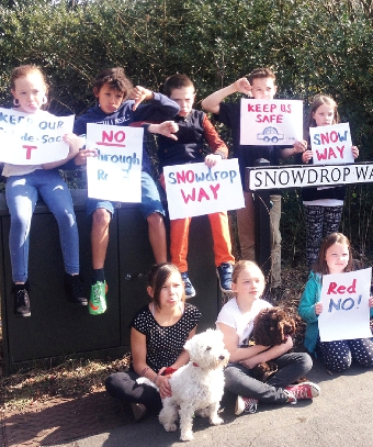 CHILDREN HAVE THEIR SAY - in May youngsters living in the cul-de-sac downed their toys in protest