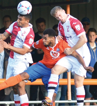 RISE BUT NO SHINE – Cards lacked a decisive cutting edge  away to Braintree on Saturday (Picture by: David Holmes)