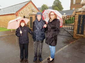 FUTURE'S BRIGHT – residents Nina and Paul Skinner with Cllr Whitehand at Florence Court