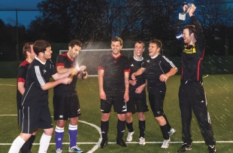 PARK LIFE – Worcester Park Snakes celebrate after clinching the day's tense finale 3-1