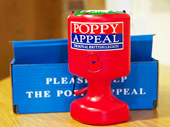LOWEST OF LOW - Poppy Appeal collections were stolen