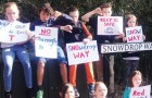 CHILDREN HAVE THEIR SAY – in May, youngsters living in the cul-de-sac downed toys to protest