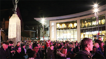 WOKING LIGHTS THE WAY – swarms of Woking residents were out in force to catch a spectacular show prior to the big switch-on