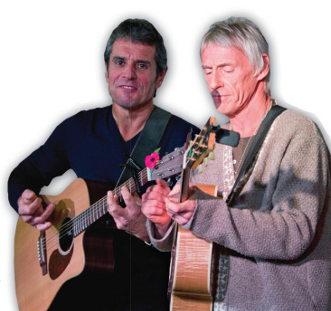WE'RE JAMMING - Steve Brookes (left) plays with 'The Modfather' Paul Weller