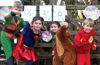 UP, UP AND AWAY - Children in Need was given a cash boost by the colourful youngsters