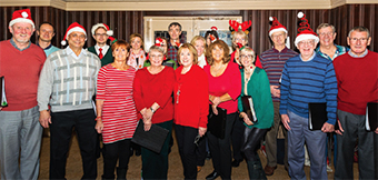 ON THE MARK – Weyward Singers provided renditions of classic Christmas favourites