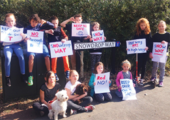 THERE'S SNOW WAY! – children joined their parents in protest