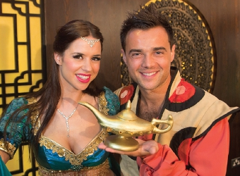 MAGIC STUFF - Djalenga Scott (Genie) and Ben Adams as Aladdin