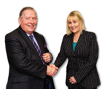 SHAKE ON IT - Council Leader John Kingsbury with Diane Holliday