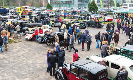 NEW YEAR DELIGHT – Brooklands was teeming with motor fans on Thursday