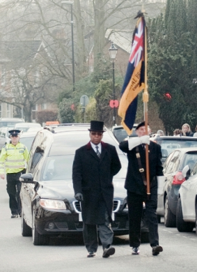 FUNERAL PROCESSION – along Chobham High Street
