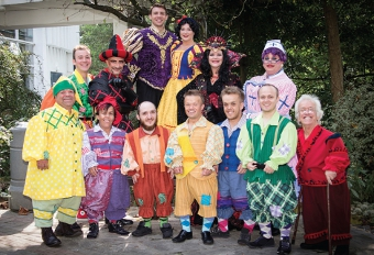 CHEEKY CHAPPIE - Ray Griffiths joins a talented cast in the Yvonne Arnaud presentation of Snow White