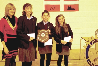 THINK BEFORE YOU SPEAK – Jennifer Browne with Stella Eyers, Lauren Finney, Maya Keynes, the Intermediate overall winners