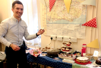 LET THEM EAT CAKE – Robert Jones raising money at his recent cake bake sale