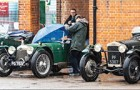 FANTASTIC LINE-UP – classic cars of all shapes and sizes wait in line ahead of the real deal Double Twelve Motorsport Festival to be held in June