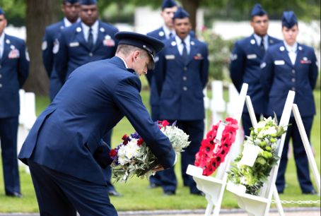 MOVING SERVICE – wreaths were laid in respect to the men and women who died in combat