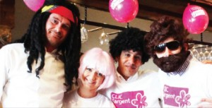 THE HAIR BEAR BUNCH – fundraisers rally round donning wigs of all shapes and shades