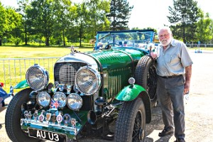HE DEN GOOD – exhibitor Dennis with his 4.5-litre Bentley